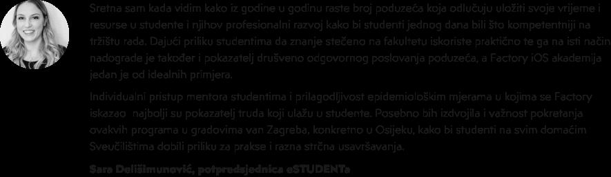 iOS akademija u Factoryju - Sara Delišimunović - eStudent